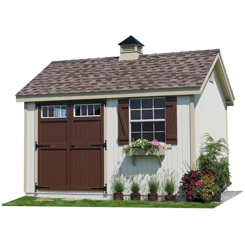 LITTLE COTTAGECO. Colonial Pinehurst 8 ft. x 12 ft. Wood Storage Shed DIY Kit with Floor Kit