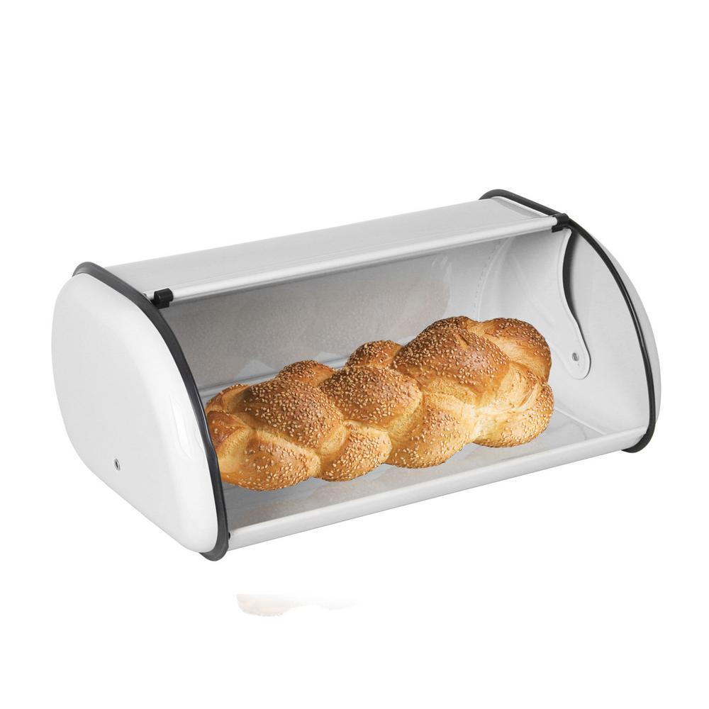 HOME basics Stainless Steel Bread Storage Box in White  sc 1 st  Home Depot & HOME basics Stainless Steel Bread Storage Box in White-BB40200 - The ...
