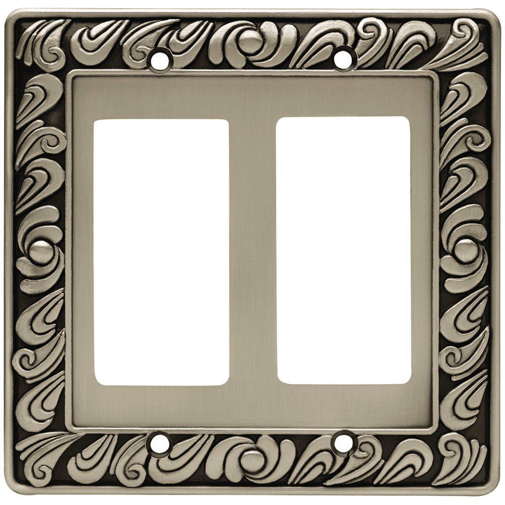Pewter 2-Gang Decorator/Rocker Wall Plate (1-Pack)
