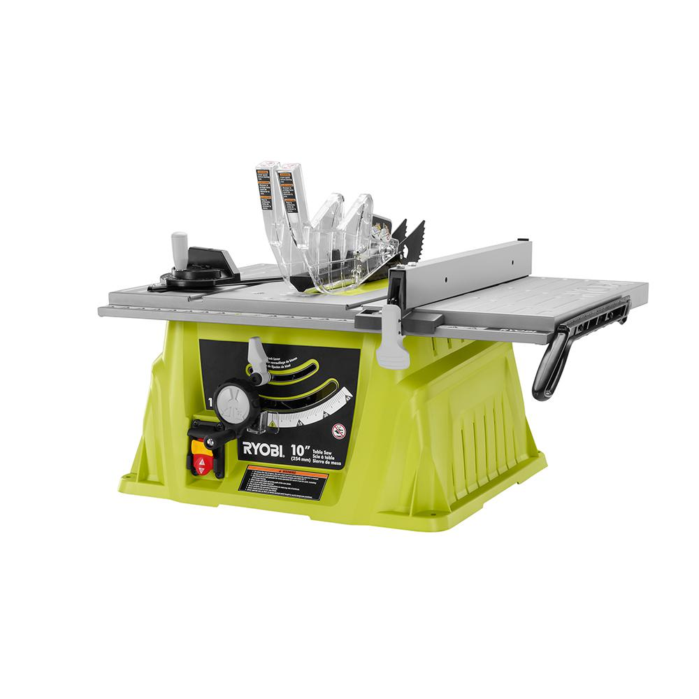 Ryobi 15 Amp 10 In Table Saw Rts10ns The Home Depot