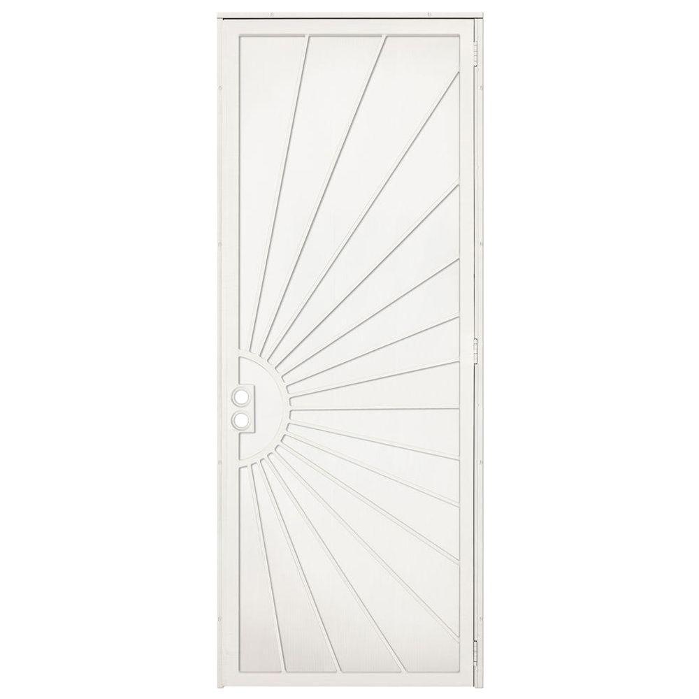 unique home designs 36 in  x 96 in  solana navajo white surface mount right