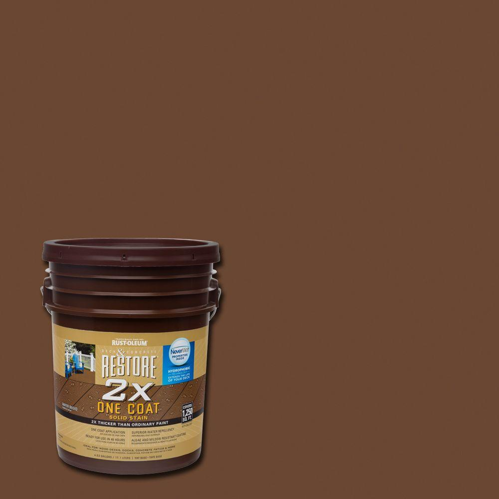 Rust-Oleum Restore 5 gal. 2X Russet Solid Deck Stain with NeverWet