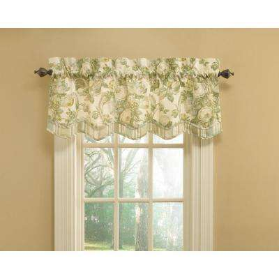 52 in. W x 18 in. L Spring Bling Cotton Rod Pocket Valance in Platinum