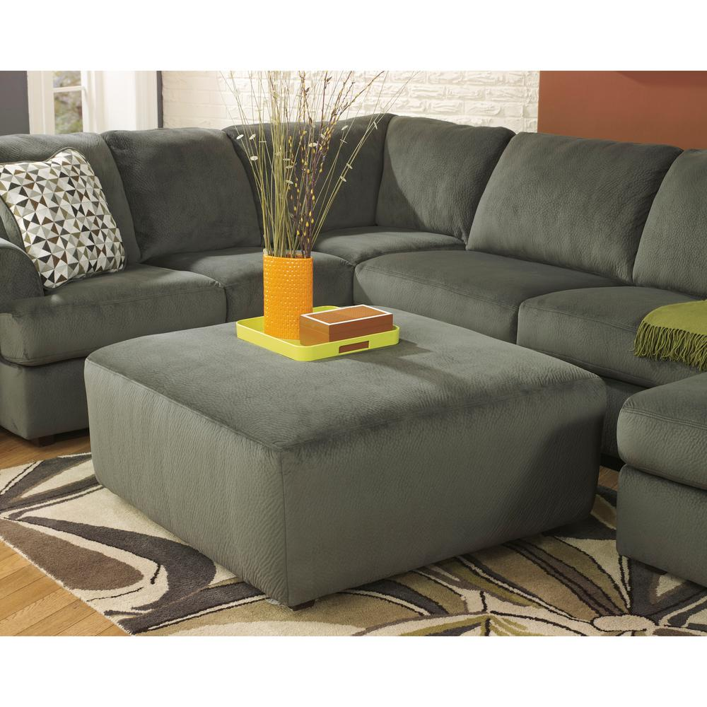 Flash Furniture Signature Design By Ashley Jessa Place Pewter Fabric  Oversized Gray And Green Ottoman