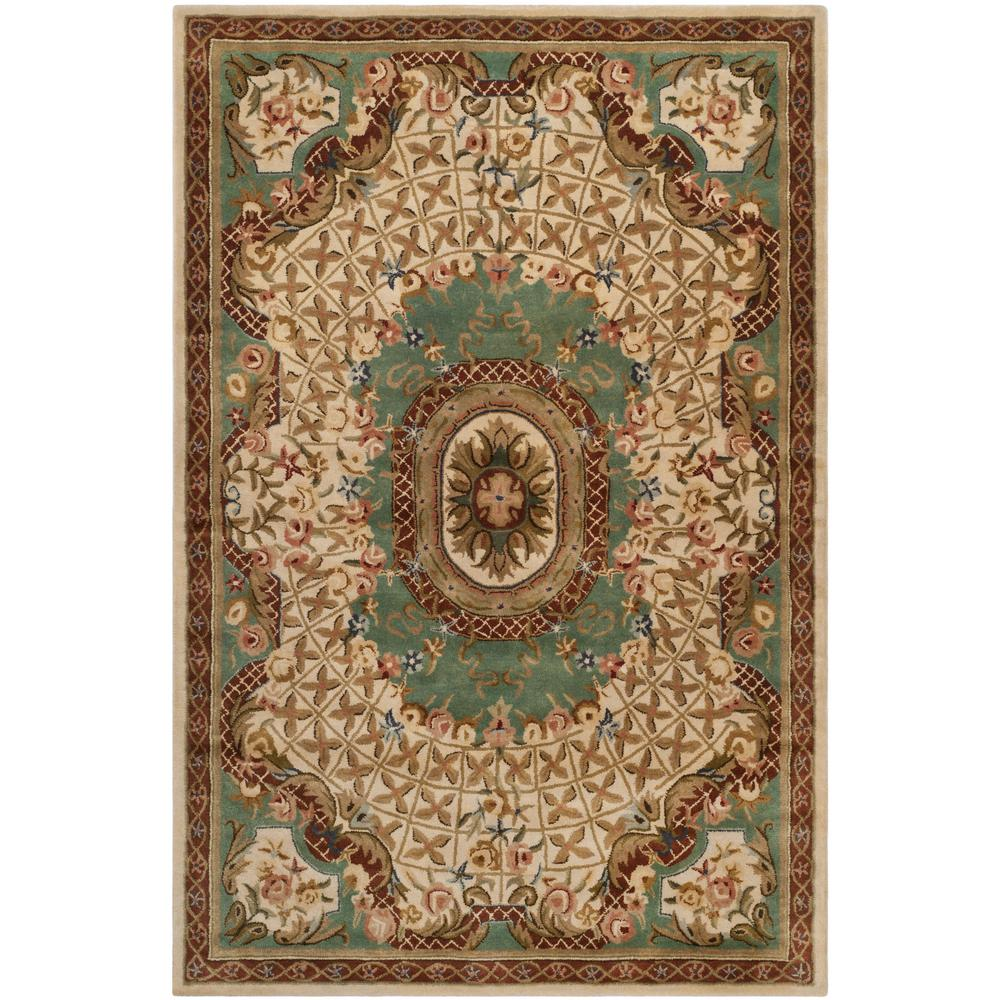 Safavieh Classic IvoryLight Blue 4 Ft X 6 Ft Area Rug
