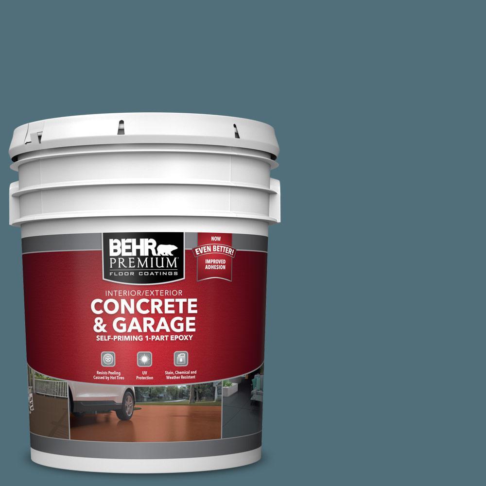 5 gal. #PFC-55 Sea Cave Self-Priming 1-Part Epoxy Satin Interior/Exterior Concrete and Garage Floor Paint