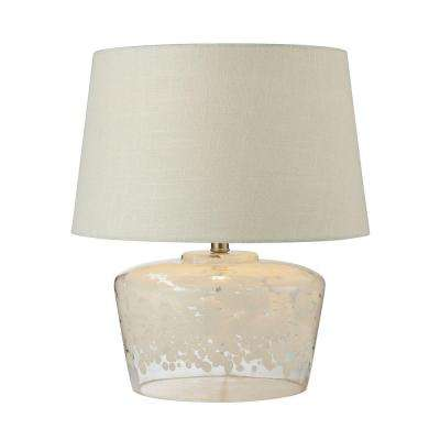 Flurry Frit Well 18 in. Boutique Glass Table Lamp