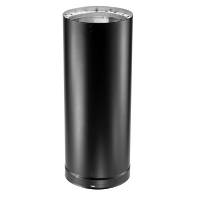 DVL 6 in. x 12 in. Double-Wall Chimney Stove Pipe in Black