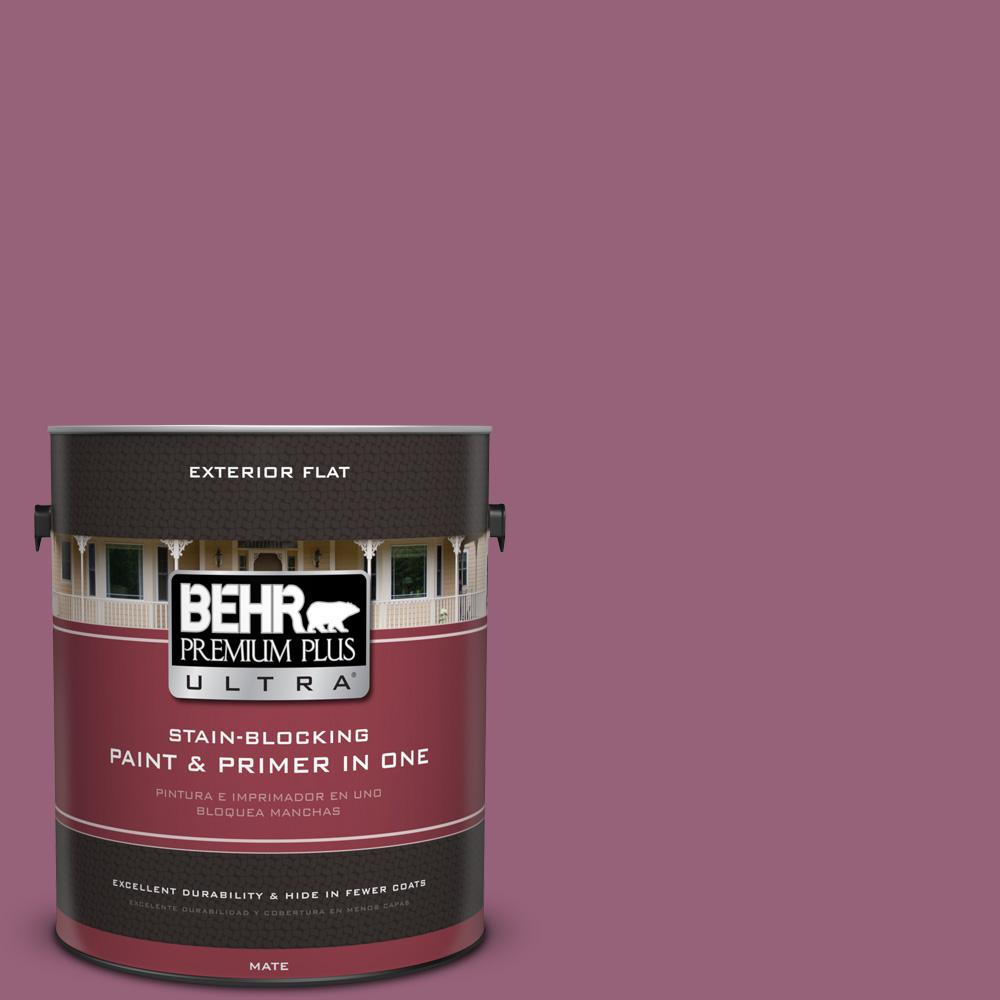 1 gal. #UL100-17 Forest Berry Flat Exterior Paint