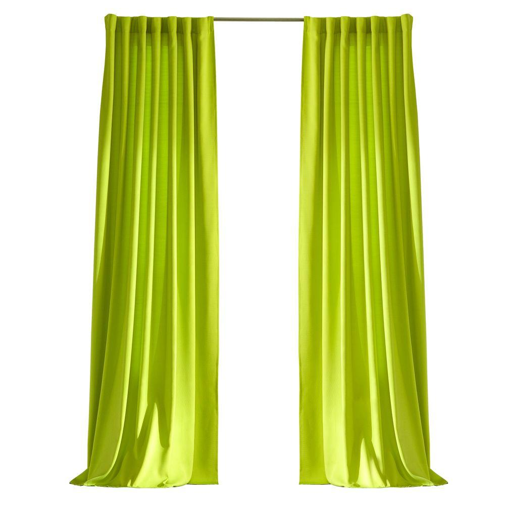 Home Decorators Collection Semi-Opaque Kiwi Green Outdoor Back Tab Curtain
