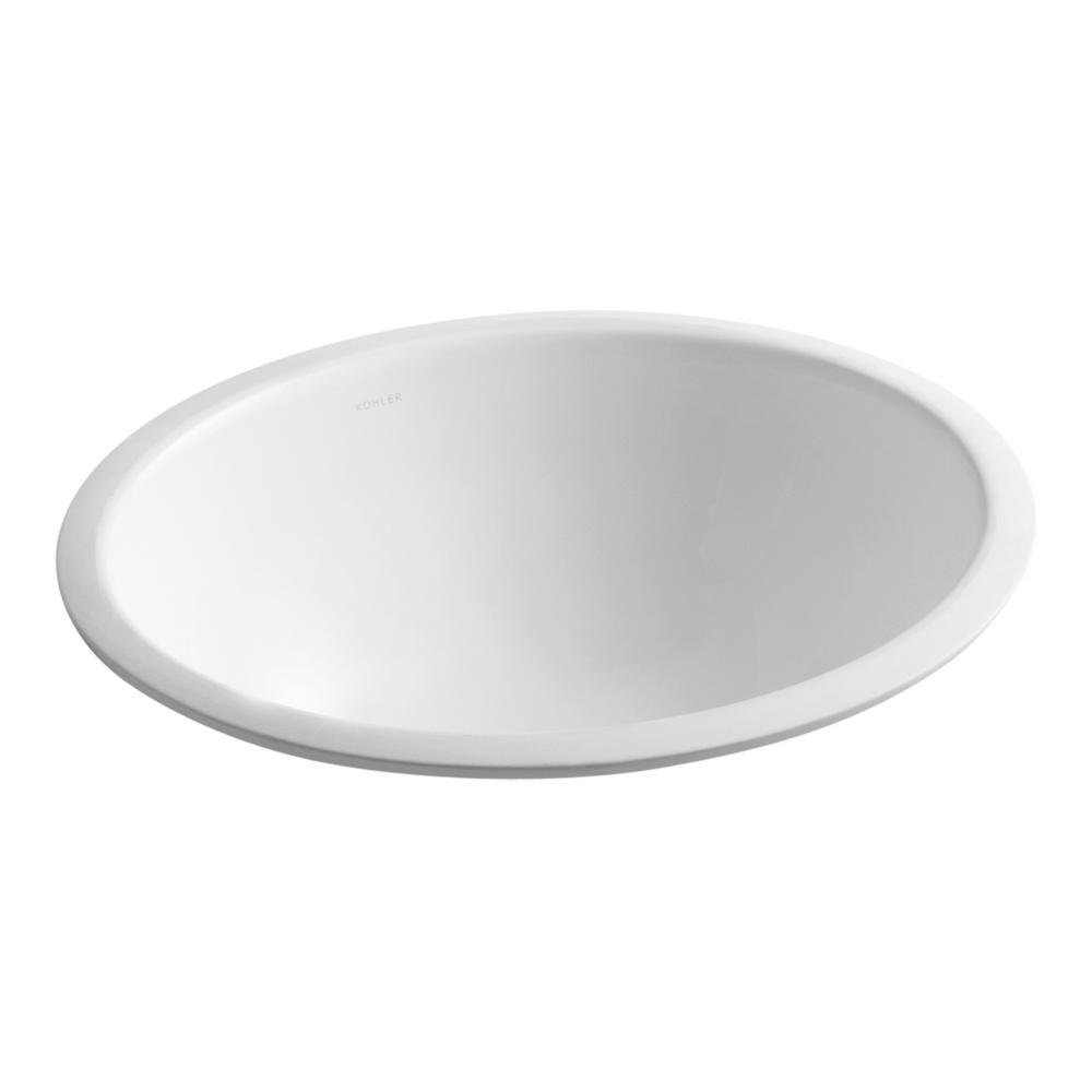 Caxton 17 in. Undermount Bathroom Sink without Overflow in White