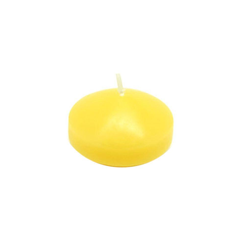 1.75 in. Yellow Floating Candles (Box of 24)