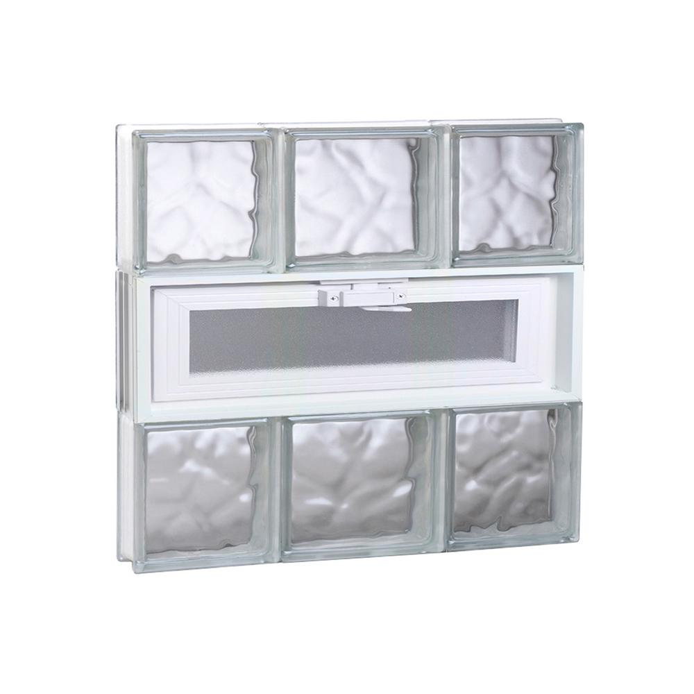Clearly Secure 19.25 in. x 17.25 in. x 3.125 in. Frameless Wave ...