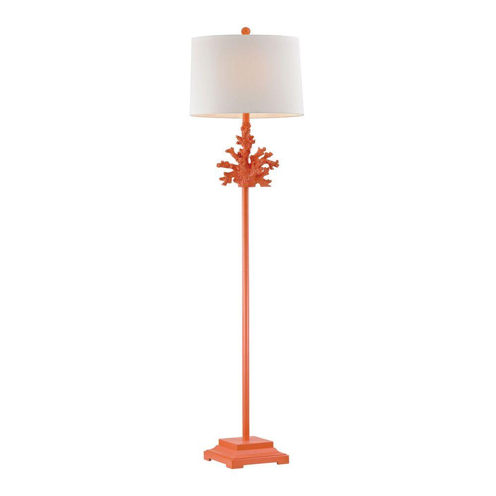 Delicieux Peach Coral Floor Lamp