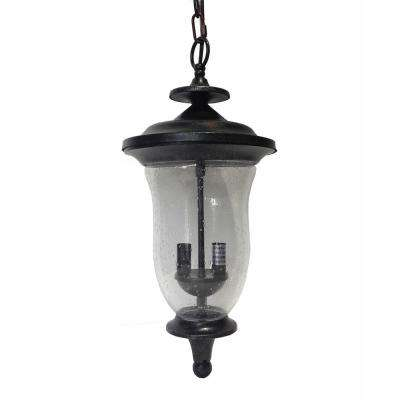Brielle 2-Light Brown Stone Outdoor Hanging Lantern