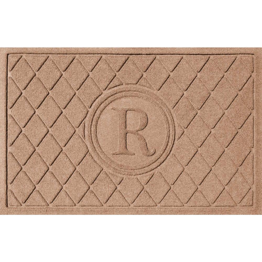 Argyle Medium Brown 24 in. x 36 in. Monogram R Door