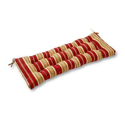 Roma Stripe Rectangle Outdoor Swing/Bench Cushion