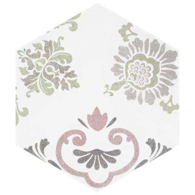 Fantasy Hex Pink Encaustic 8-5/8 in. x 9-7/8 in. Porcelain Floor and Wall Tile (11.56 sq. ft. / case)