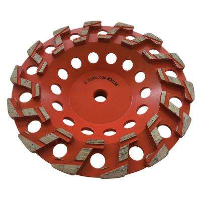 7 in. Aggressive S Segment Diamond Grinding Wheel for Concrete Grinding and Coating Removal 5/8 in. Threaded Arbor