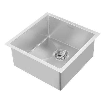 Noah Plus Dual Mount Stainless Steel 17-3/4 in. Single Bowl Kitchen Sink in Brushed Stainless Steel Sink Kit