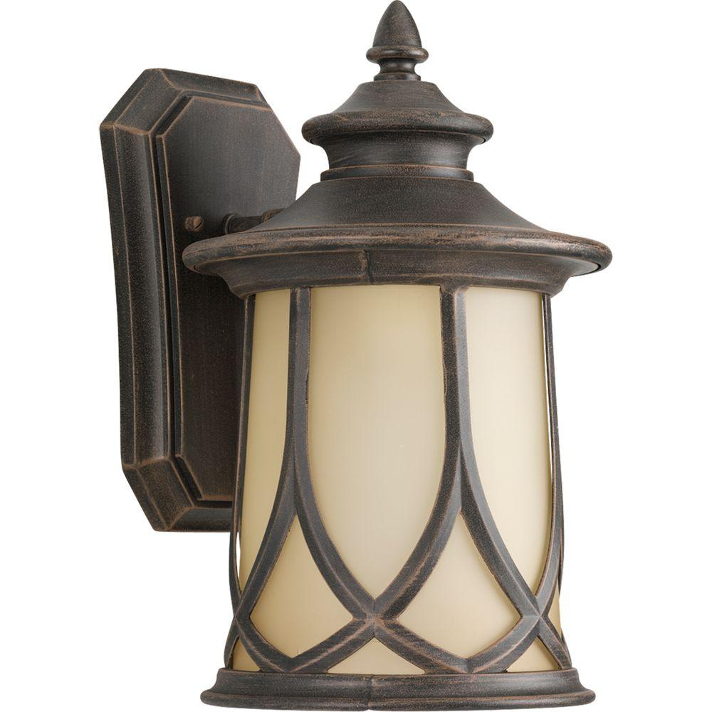 Progress Lighting Resort Collection 1-Light 8.5 Inch Aged Copper Outdoor Wall Lantern  sc 1 st  Home Depot & Progress Lighting Resort Collection 1-Light 8.5 Inch Aged Copper ...