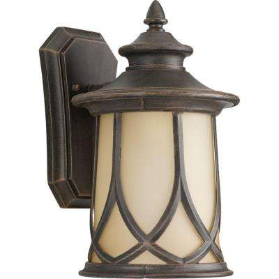 Resort Collection 1-Light 8.5 Inch Aged Copper Outdoor Wall Lantern