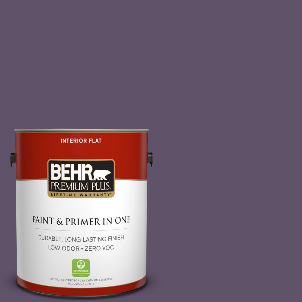 1 gal. #PPU17-04 Darkest Grape Zero VOC Flat Interior Paint