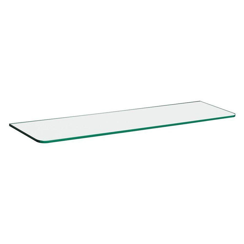 31-1/2 in. L x 10 in. D Glass Shelf in Clear