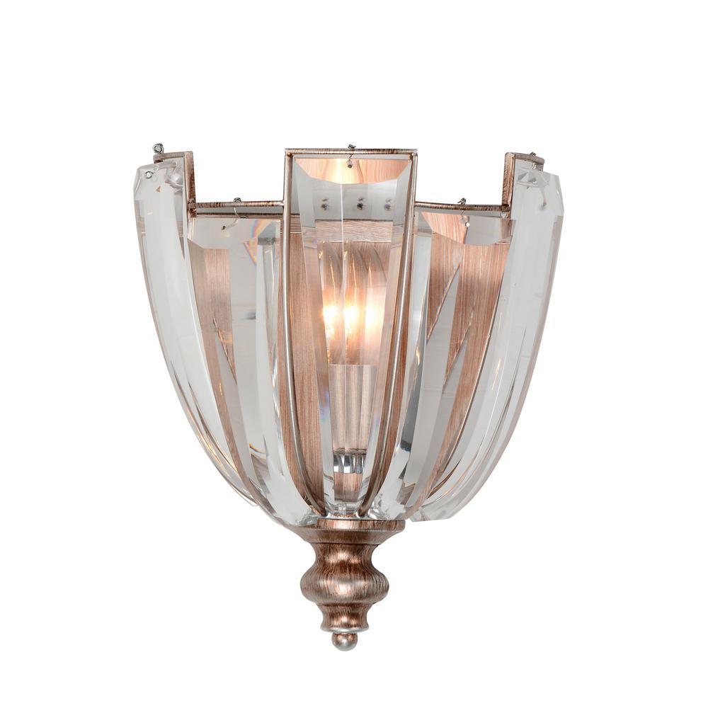 Colorado 1-Light Antique Forged Sliver Sconce
