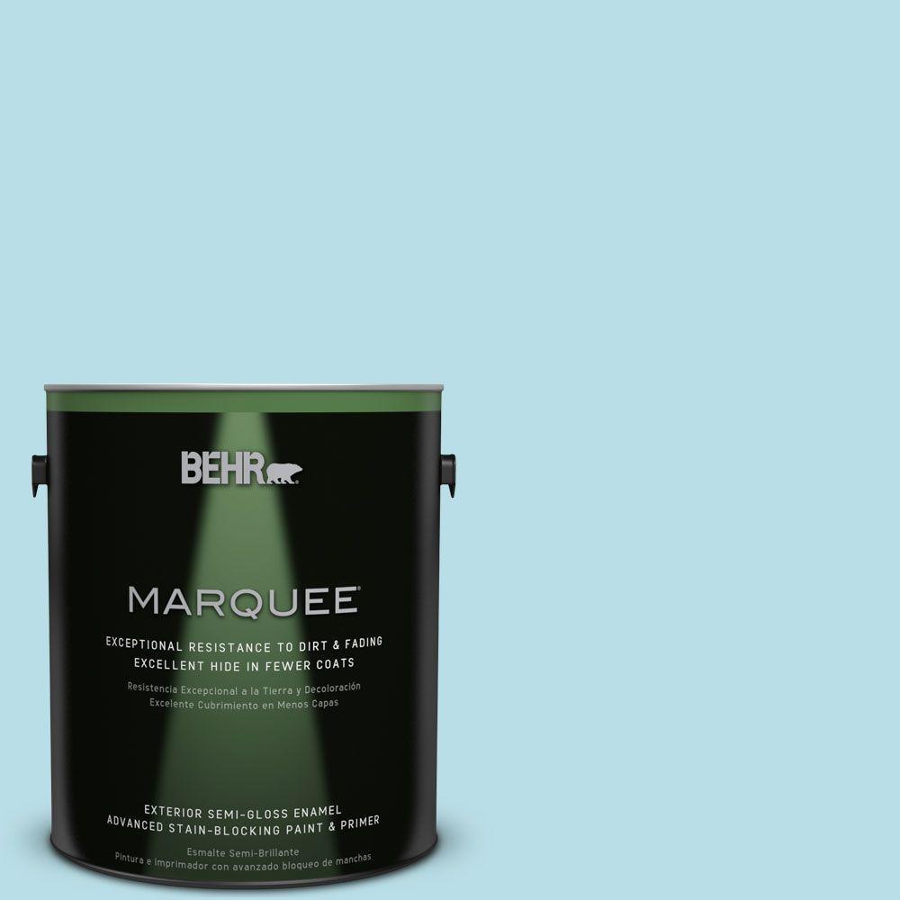 1-gal. #M470-2 Basin Blue Semi-Gloss Enamel Exterior Paint
