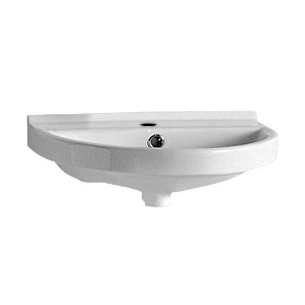 Incroyable Whitehaus Collection Isabella Collection Wall Mounted Bathroom Sink In White