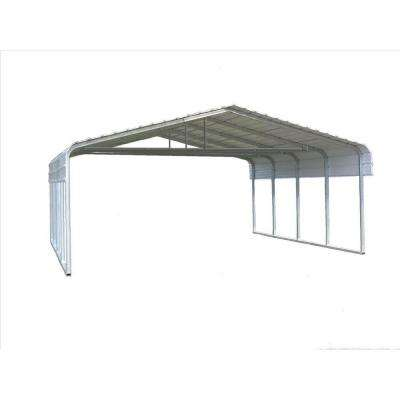 24 ft. W x 20 ft. L x 7 ft. H Steel Carport with Truss Bracing