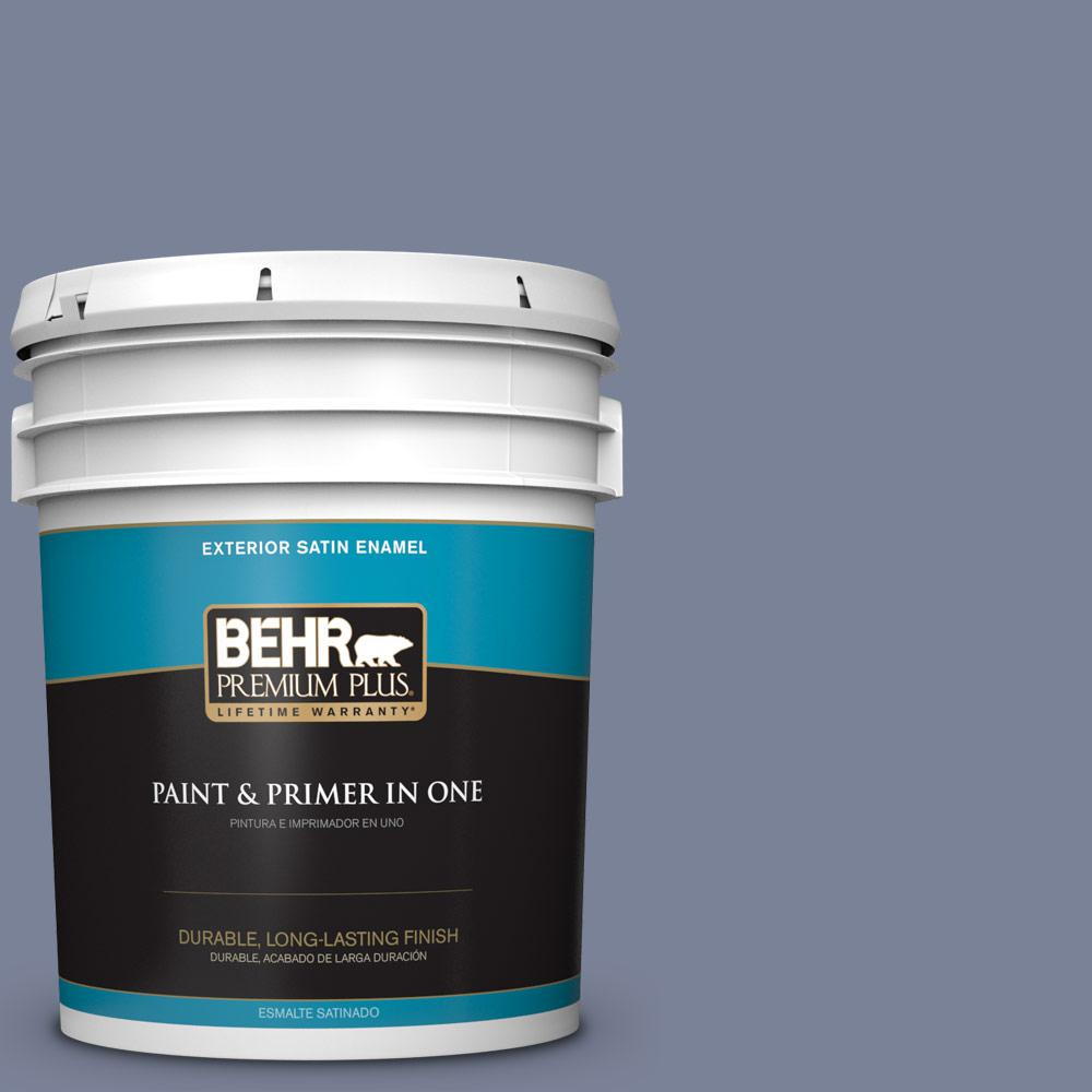 5 gal. #PPU15-07 Tranquil Pond Satin Enamel Exterior Paint