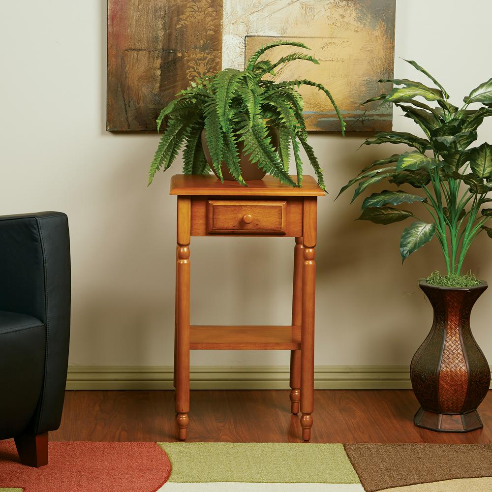 OSPdesigns Brown Storage End Table