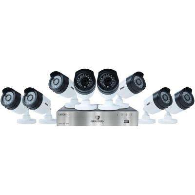 8-Channel 1080p 2TB DVR with 8 Outdoor Bullet Cameras