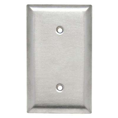 Pass & Seymour 430S/S 1 Gang Strap Mounted Blank Wall Plate, Stainless Steel (1-Pack)