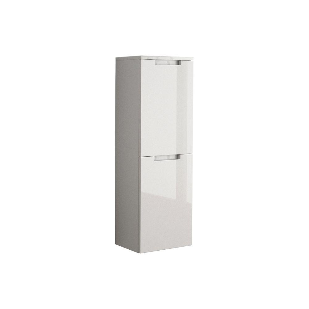 W Wall Mounted Linen Cabinet In Glossy