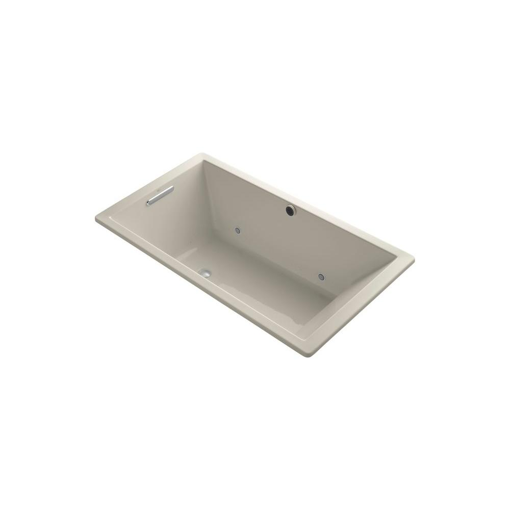 KOHLER Underscore 5.5 ft. Air Bath Tub in Sandbar