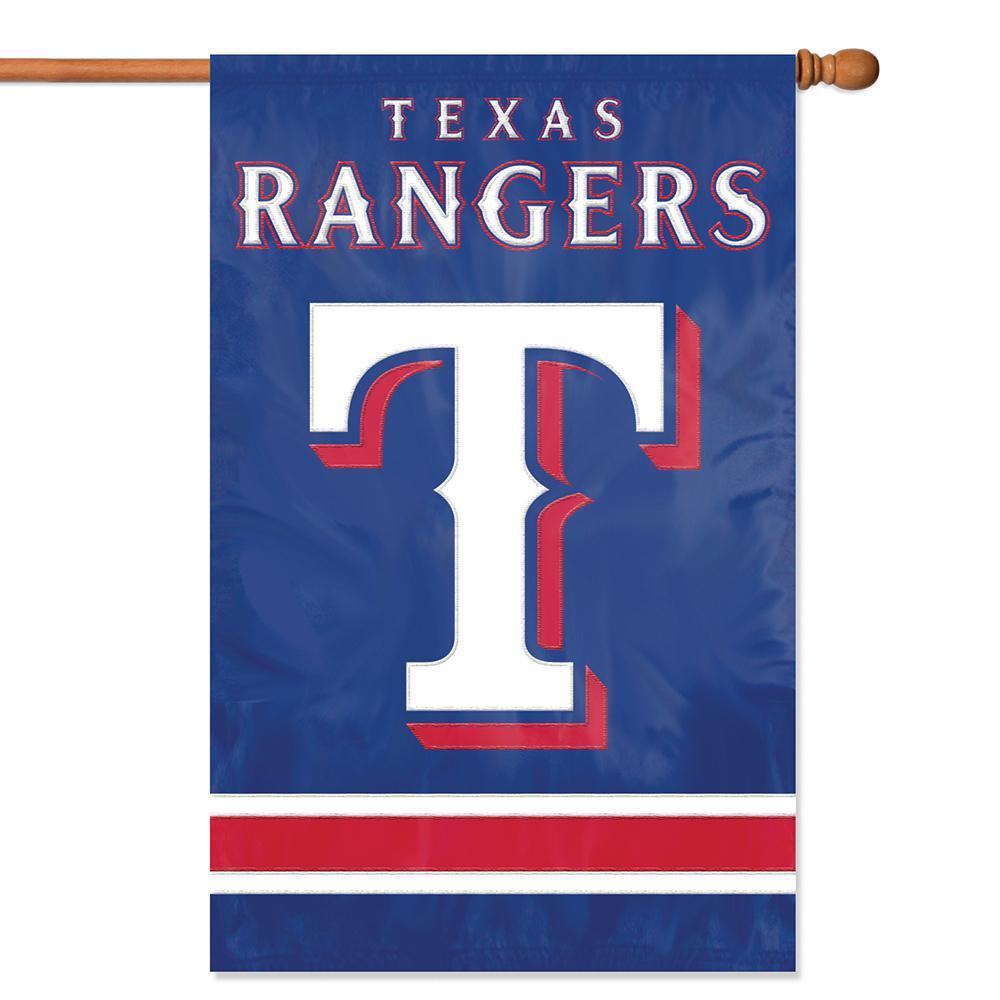 Texas Rangers Applique Banner Flag