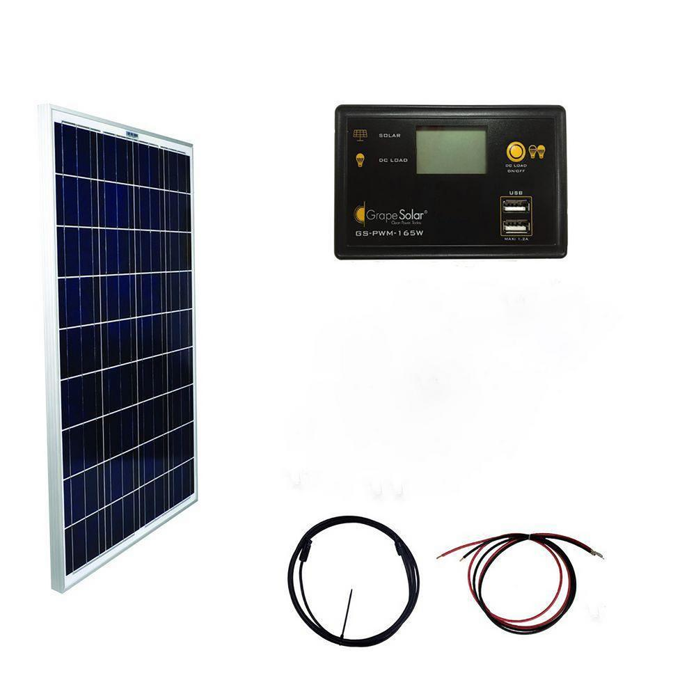 Coleman 18 Watt 12 Volt Solar Battery Charging Kit 58033 The Home 220v Ac Motor Wiring Together With Panels To Batteries 100 Basic Off Grid Polycrystalline Silicon Panel
