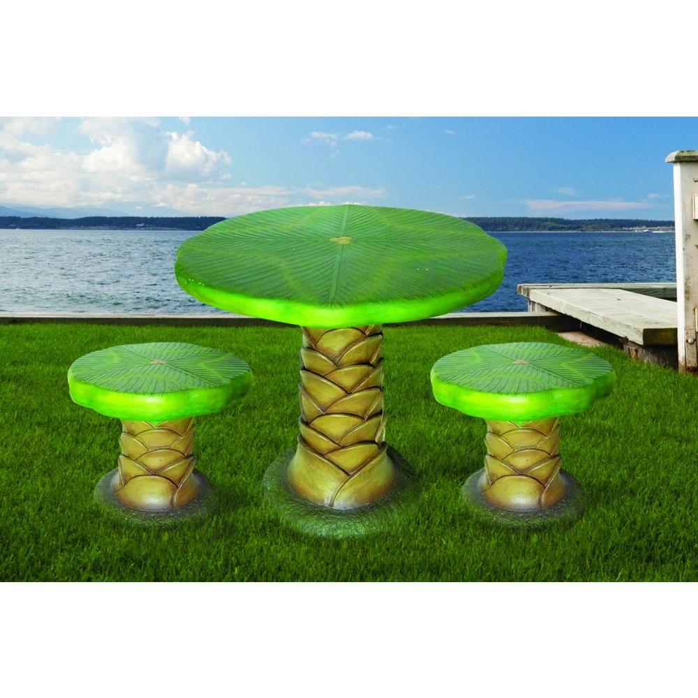 null Palm Tree Garden 3-Piece Patio Bistro Set