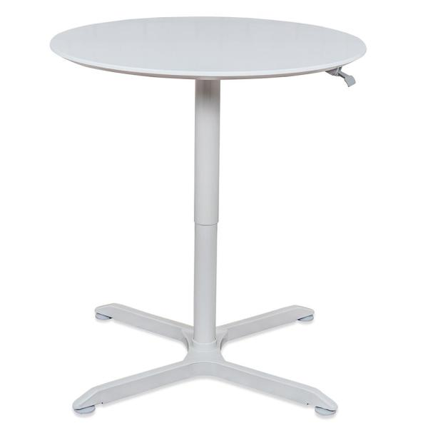 Adjustable Height Round Table.32 In Pneumatic Height Adjustable Round Cafe Table