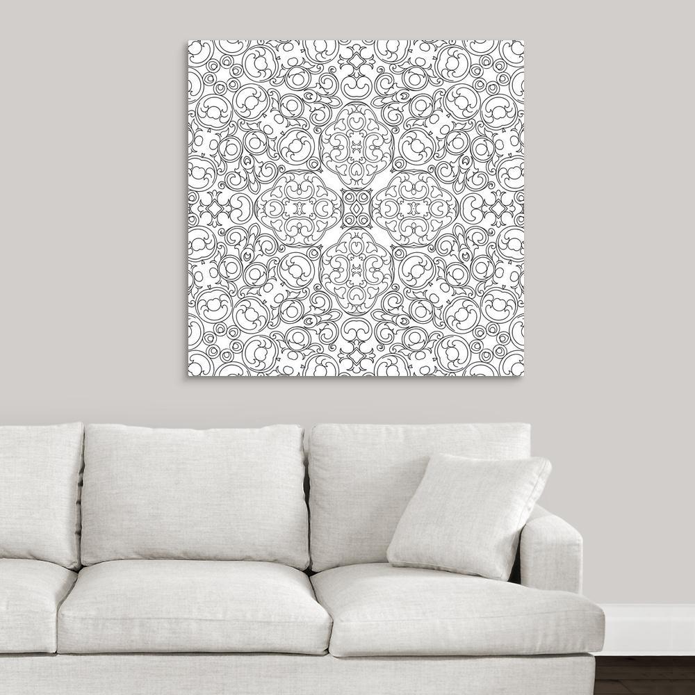 GreatBigCanvas ''Baroque Pattern'' by Circle Kids Canvas Wall Art 2393528_24_36x36