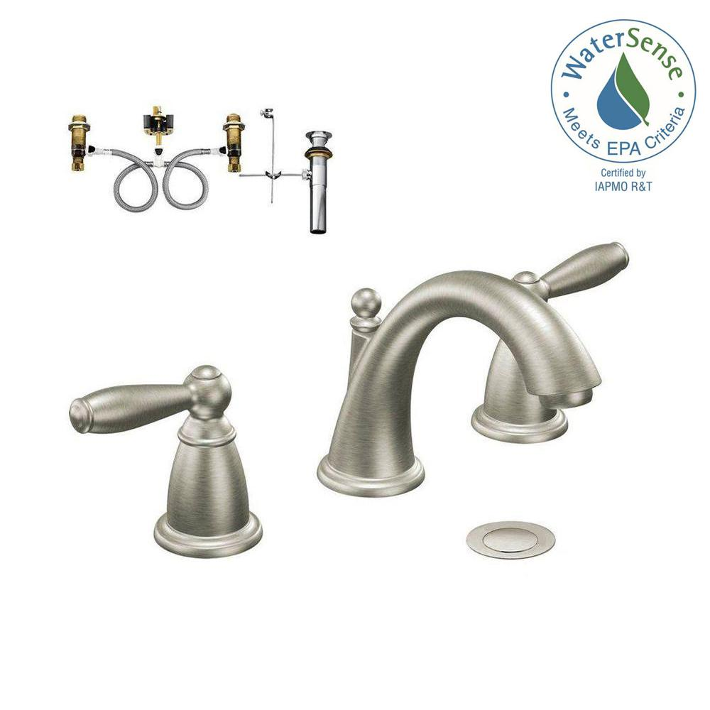 MOEN ntford 8 in. Widespread 2-Handle Bathroom Faucet Trim Kit ... on pfister bathroom sink faucets, old bathroom sink faucets, delta bathroom faucets, symmons bathroom sink faucets, moen kitchen faucet brushed nickel bathroom, moen centerset bathroom faucet, premier bathroom sink faucets, moen bathroom pedestal sinks, bathroom with vessel sink faucets, kohler bathroom faucets, bath sink faucets, moen bathroom faucet chrome, moen bathroom faucet models, moen bathroom faucet installation, moen bathroom faucet parts, american standard bathroom faucets, three hole bathroom sink faucets, gatco bathroom sink faucets, moen bathroom faucet repair diagram, moen boardwalk brushed nickel faucet,