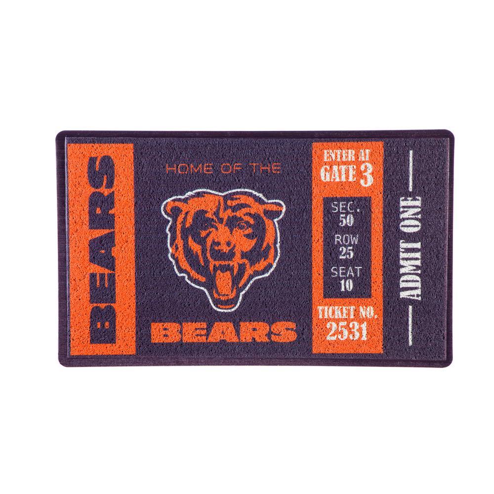 Chicago Bears 30 in. x 18 in. Vinyl Indoor/Outdoor Turf Floor Mat