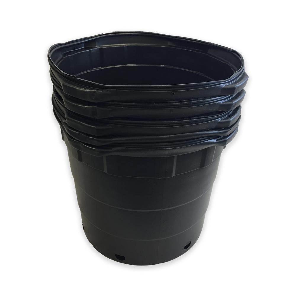 Hydroponics Organic 10 Gal. Round Nursery Pots (37.85 L / 1.33 cu. ft.) (5-Pack)