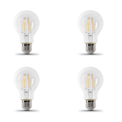 60-Watt Equivalent A19 IntelliBulb Dusk to Dawn CEC Title 20 Compliant LED Light Bulb Clear Daylight (5000K) (4-Pack)