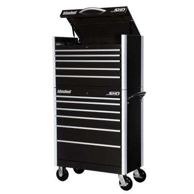 SHD Series 35 in. 11-Drawer Tool Chest and Cabinet Combo in Black
