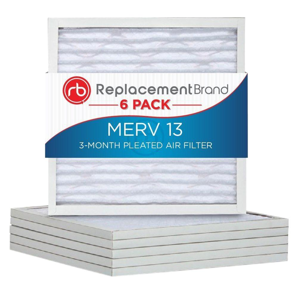 MERV 13 20 in. x 25 in. x 1 in. Replacement Air Filter (6-Pack)
