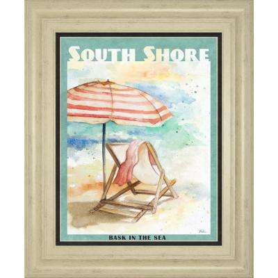"""22 in. x 26 in. """"Shore Poster I"""" by Patricia Pinto Framed Printed Wall Art"""